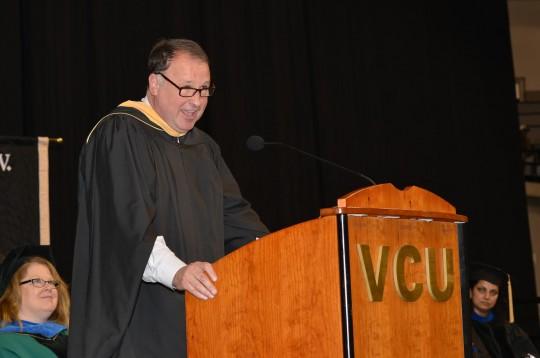 Senator Creigh Deeds speaking at the Virginia Commonwealth University School of Social Work graduation